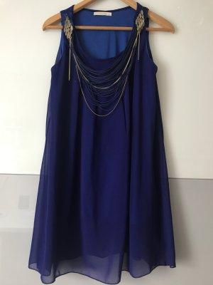 Camicetta lunga blu scuro-viola scuro