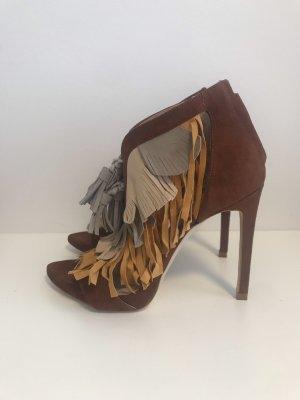 Zara Sandales à talon haut bronze