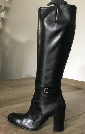 tolle Bally Lederstiefel schwarz 37,5