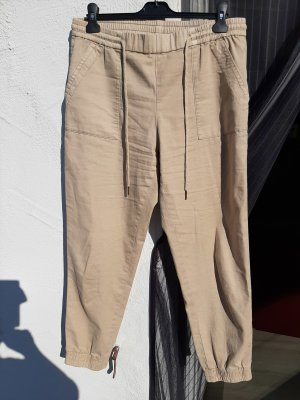 edc Pantalon en lin crème-beige coton