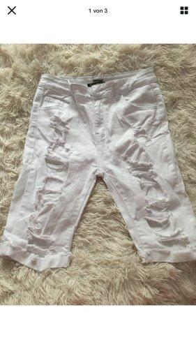 0039 Italy Spodnie Capri biały