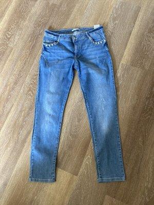 Betty Barclay Slim jeans blauw-wit