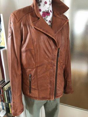 Cruse Leather Jacket cognac-coloured