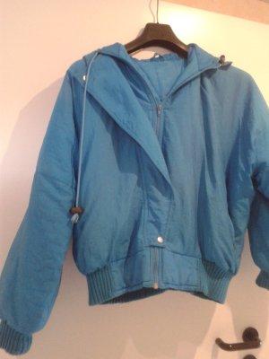 tolle blaue warme Blouson Bomber Jacke / Made in Italy / wie NEU !