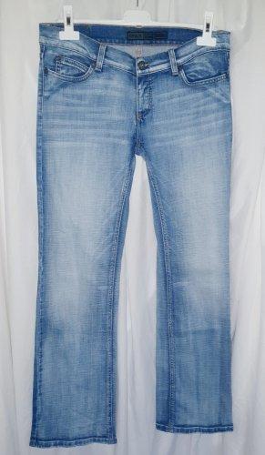 Only Jeansy z prostymi nogawkami błękitny-stalowy niebieski Bawełna