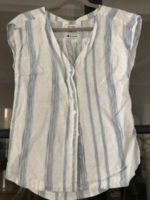 Malvin Linen Blouse white-azure