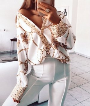 100% Fashion Blouse-chemisier blanc