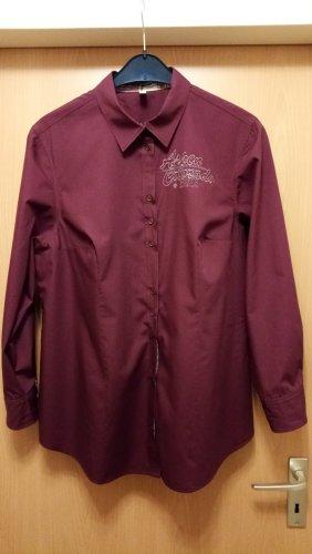 Tolle Bluse in Bordeaux mit hübschen Details Gr. 46