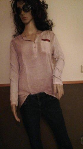 Tolle Bluse rosa Pailetten Key Largo M