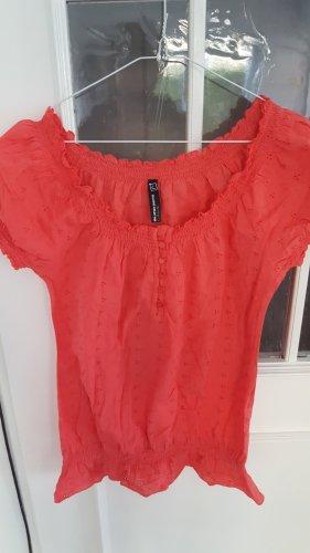 Blind Date Slip-over blouse zalm