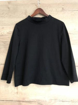 COS Stand-Up Collar Blouse black