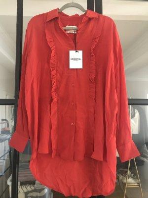 Tolle Bluse von Essential Antwerp in kräftigem rot. Neu mit Etikett.