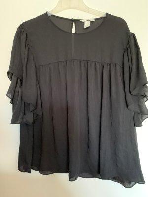 H&M Bluzka oversize czarny