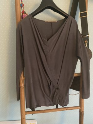 Humanoid Wraparound Blouse grey-dark grey mixture fibre