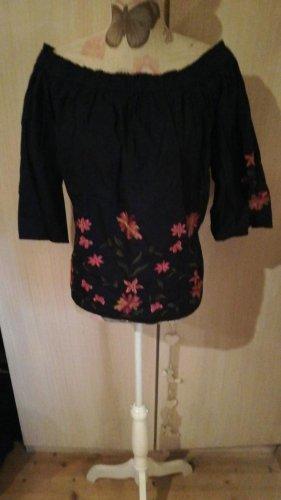 tolle Bluse von Vero Moda Gr. XL blau mit Stickerei