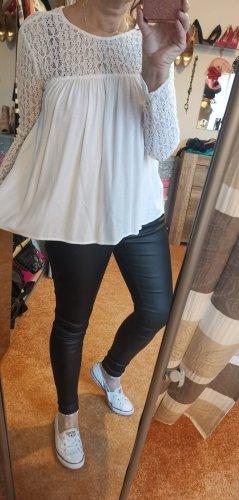 Tolle Bluse von Zara Trafaluc Gr L Weiße Bluse Zara Babydoll