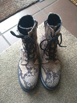 Tamaris Combat Boots black-oatmeal