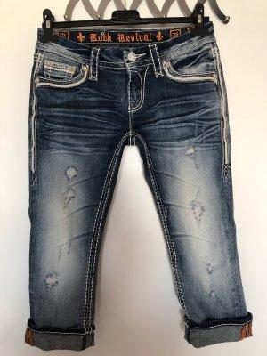 Tolle Capri Jeans Rock Revival, Gr. 26 (34/36)