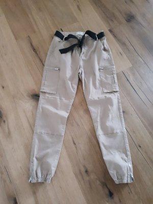 Pantalon cargo noir-marron clair