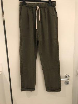 le streghe Pantalon cargo kaki-gris vert