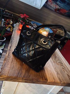 Tolle Chanel Lackleder  Handtasche Tasche schwarz