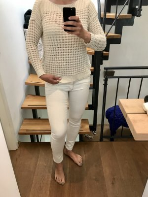 Cinque Jeansy biodrówki biały-w kolorze białej wełny Bawełna