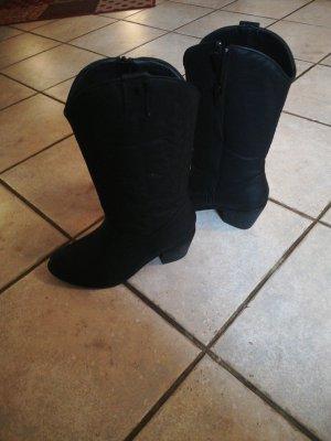 Tina Tourmassi Botas estilo vaquero negro