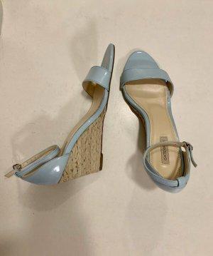 Cate Gray Sandalias tipo clog azul bebé-crema