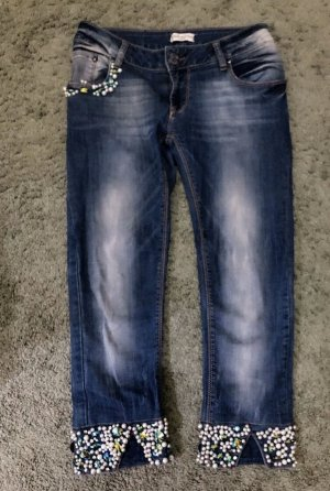 0039 Italy 3/4 Length Jeans dark blue