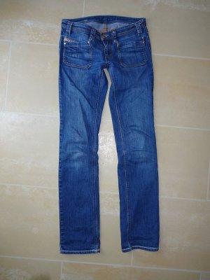 Diesel Low Rise Jeans steel blue-cornflower blue