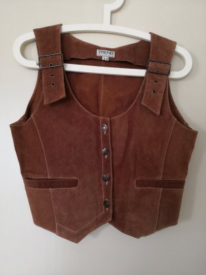 TREND Collection Traditional Vest cognac-coloured