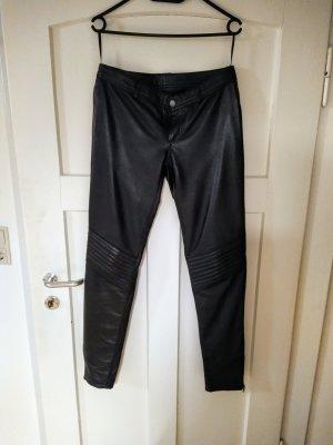 Pepe Jeans Pantalon en cuir noir