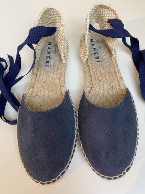 Manebi Espadrille sandalen room-donkerblauw