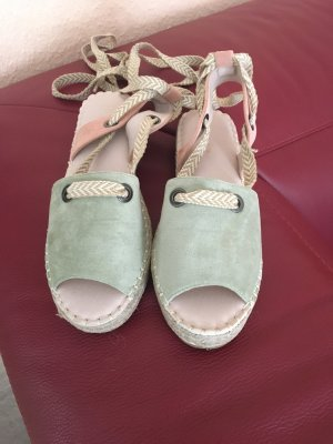 Joia Alpargatas rosa-verde claro