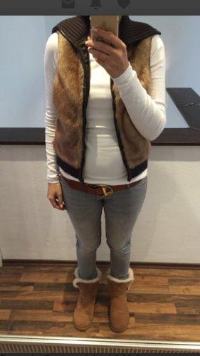 Esprit Short Sleeve Knitted Jacket brown