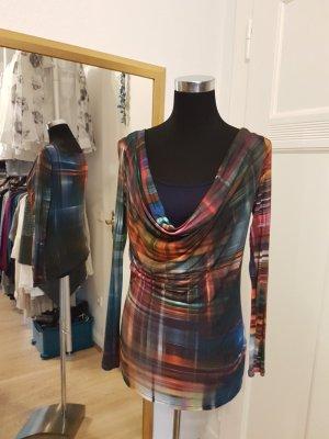 Alba Moda Cowl-Neck Shirt multicolored viscose