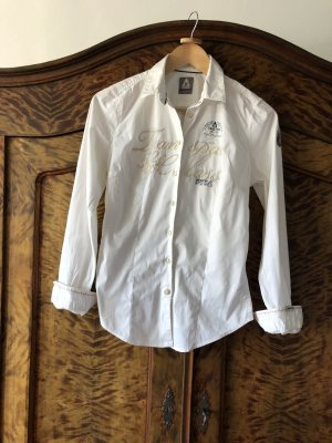 Tolle GAASTRA Bluse / Hemdbluse  - weiß - tailliert - viele raffinierte Details - nur 1 x getragen