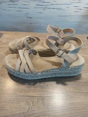 Tolle Graceland Sandalen Sandaletten Gr. 41 mit Perlendetails