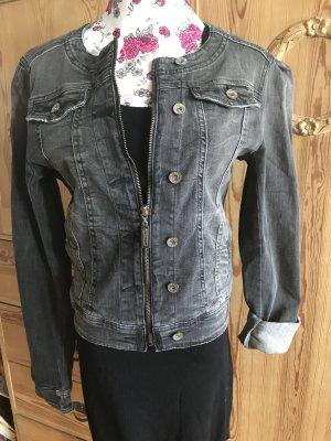 Made in Italy Veste en jean gris foncé coton