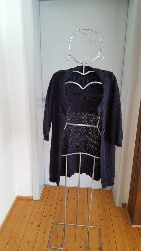 Zero Veste tricotée en grosses mailles bleu foncé acrylique