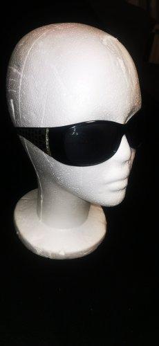 Angular Shaped Sunglasses black-silver-colored