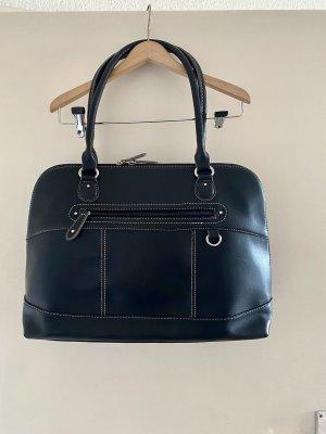 Tolle große schwarze Tasche Kunst Leder
