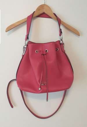 Tolle Guess Tasche Beuteltasche Hobo Bag in rot pink