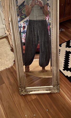 Unikat Einzelstück Pantalone bloomers argento-grigio