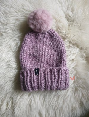 Hand made Knitted Hat mauve