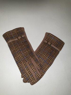 Guanto in maglia talpa-marrone-grigio
