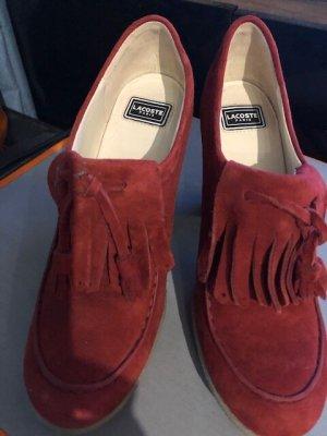 Lacoste Chaussure à talons carrés rouge cuir