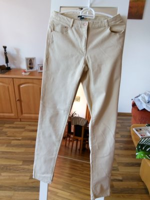H&M Drainpipe Trousers beige polyester