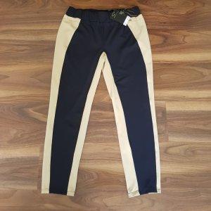 Ancora Pantalone jersey beige chiaro-blu scuro