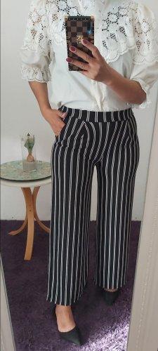 Pantalone Marlene bianco-blu scuro